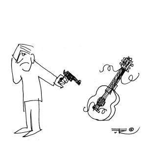 afsked_guitar_cartoons_kunst_musik_tuerosenkjaer_glnr3